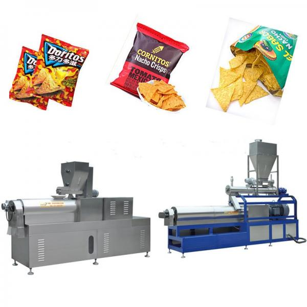 Good Feedback and High Efficiency Frying Tortilla Doritos Chips Processing Line High Profitable Fried Corn Chips and Bulges Flour Snacks Pellet Equipment