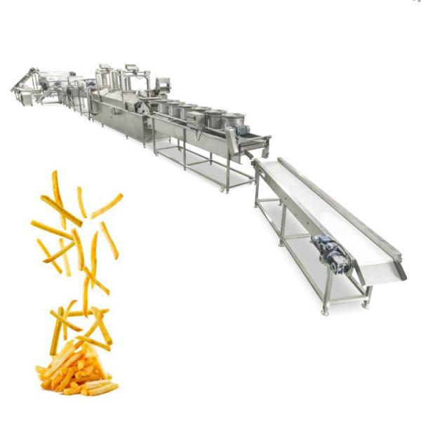 Frozen Potato Chips Making Machine French Fries Fryer Crisps Frying Machine